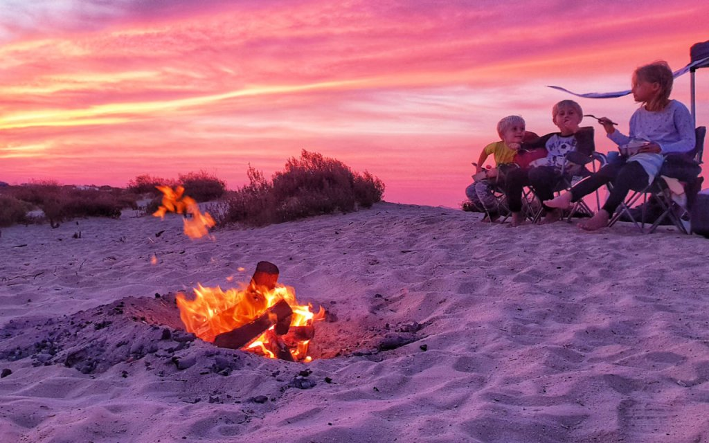 Beach camping in the UAE