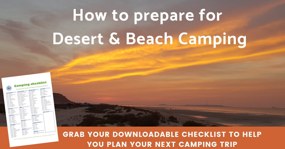 Downloadable checklist for desert camping