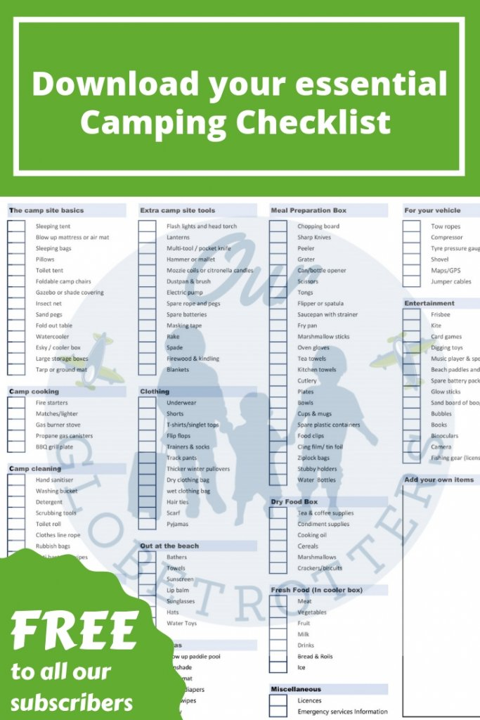Download link for the ultimate sand camping checklist