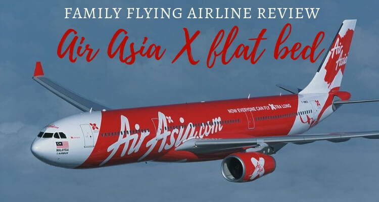 Flying Premium Flatbed with kids on Air Asia X