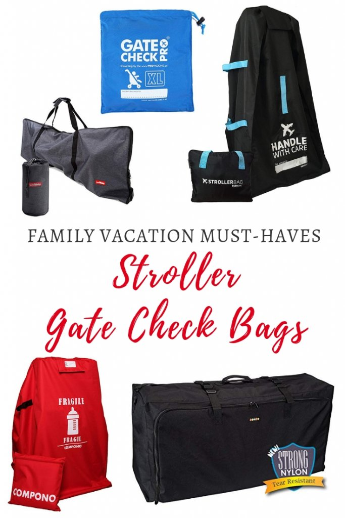 Stroller gate check bags. When do you need one, and which are the best brands to use to protect your stroller? A detailed product review by Our Globetrotters Family Travel Blog