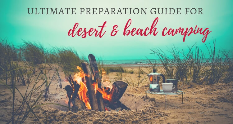 Camp fire on a beach | Ultimate guide to Desert & Beach camping