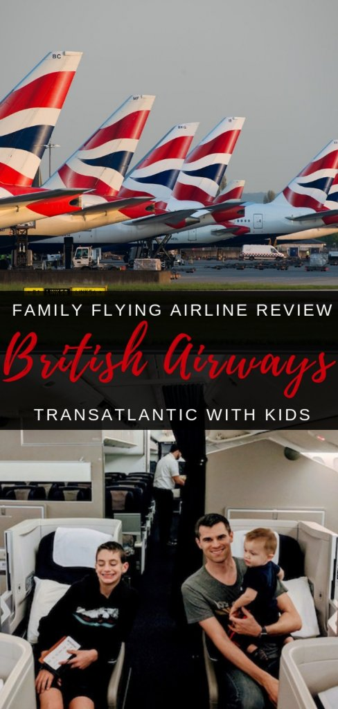 Flying British Airways Transatlantic with kids