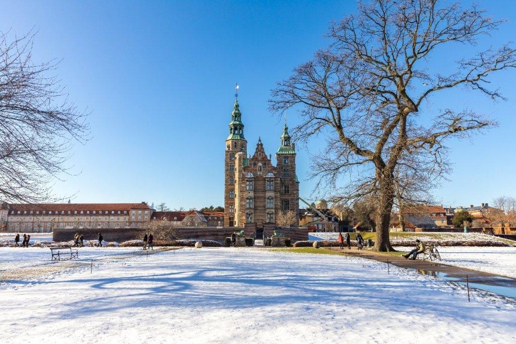 snow covered Copenhagen, Denmark