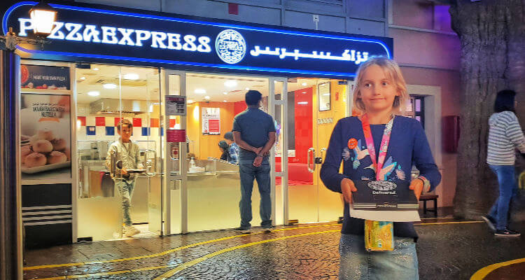 Pizza Express at Kidzania Dubai