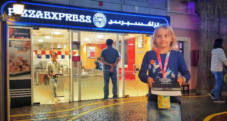 Pizza Express at Kidzania Dubai