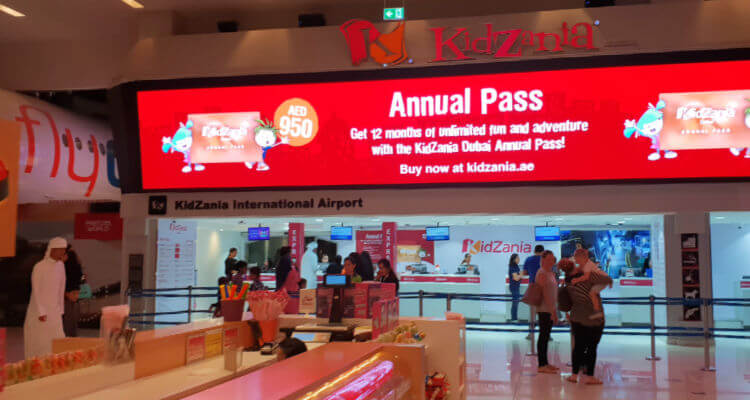 Kidzania Dubai Review | Entrance in Dubai mall