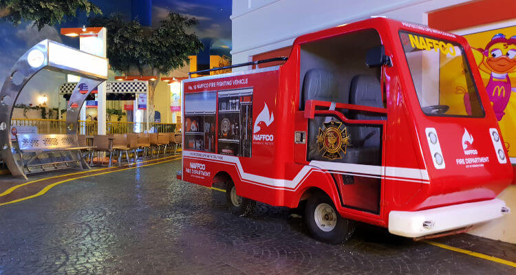 Kidzania Dubai Review | Fire station is a popualr activity