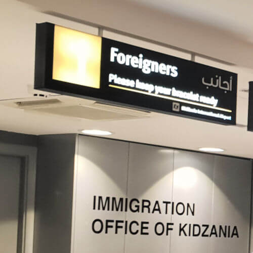 Kidzania Dubai Review | Check out through immigration