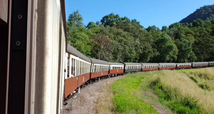 Kuranda Scenic Railway with kids