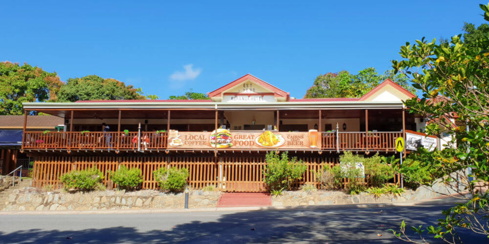 Kuranda Hotel in the centre of town for pub lunch