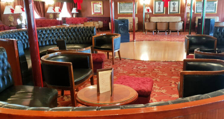 bar lounge of a Nile Cruise ship