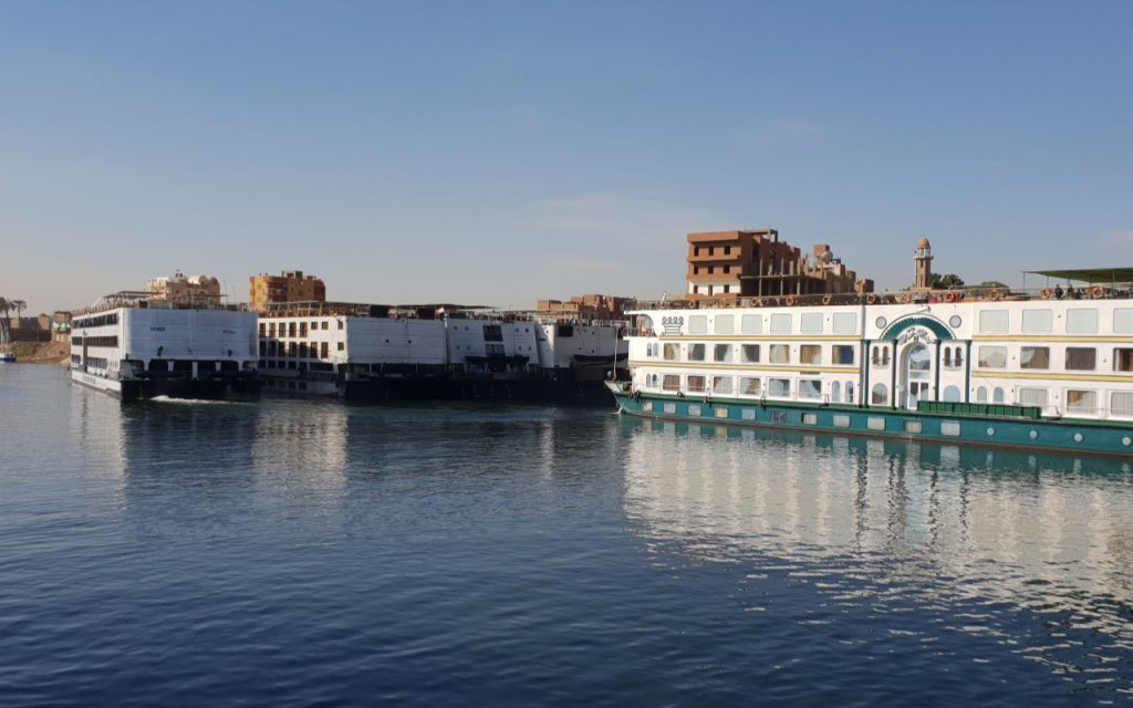 Leaving Edfu port on the Nile