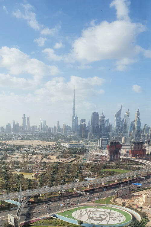 View from the Dubai Frame | Novotel World Trade Centre Dubai Family Review