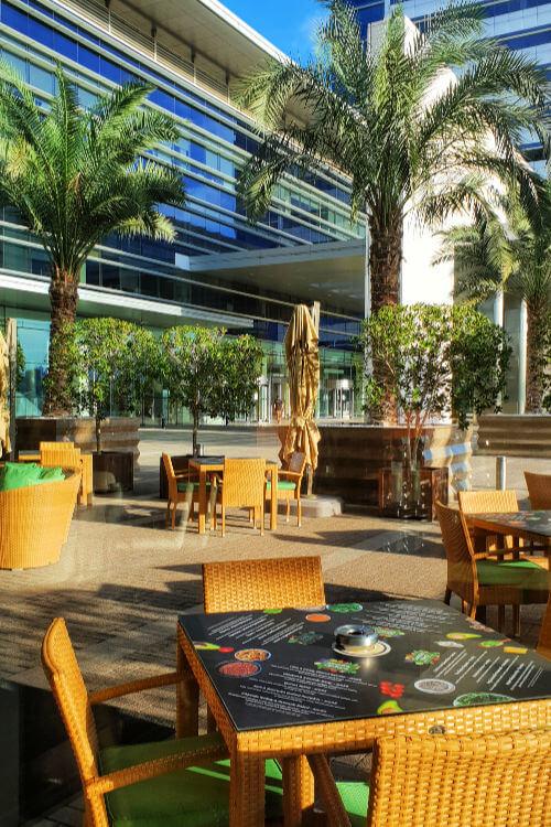 Outside at Cafe Cream | Novotel World Trade Centre Dubai Family Review
