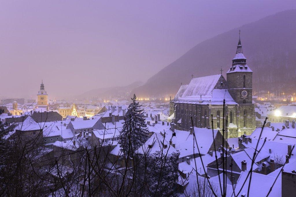 Snow covered Transylvania, Romania