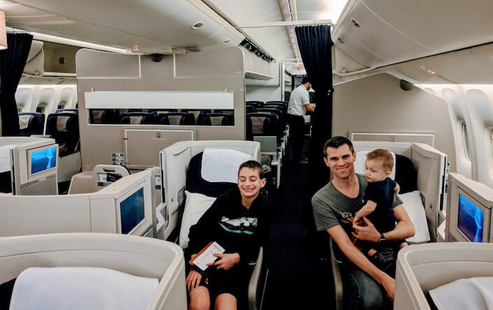 British Airways Family Flying Review Transatlantic flight - Club World Seating