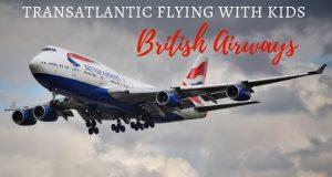 Transatlantic British Airways flight