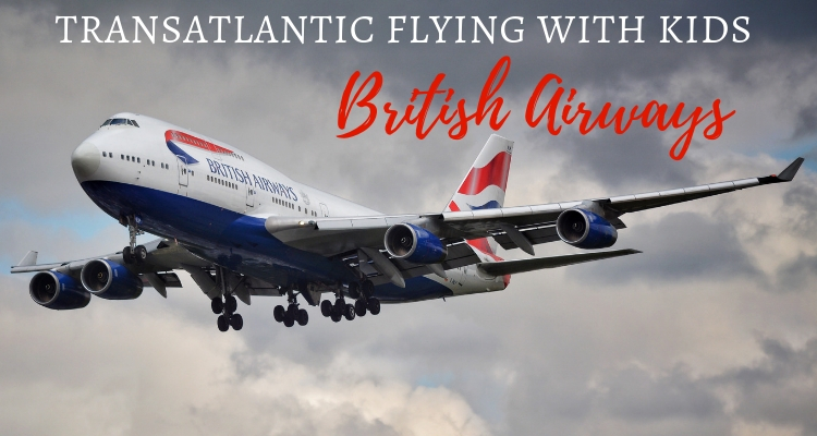 Transatlantic British Airways flight