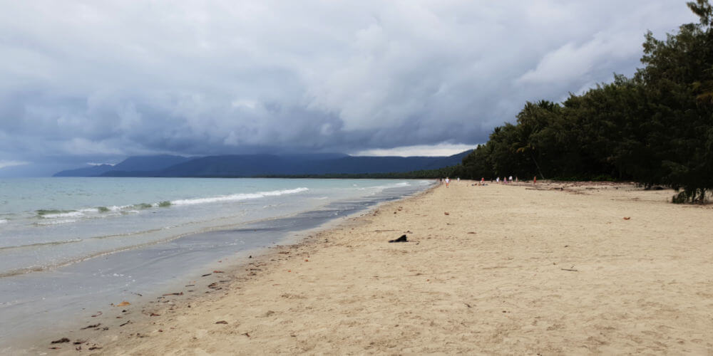 Stormey weather coming in at 4 mile beach Port Douglas
