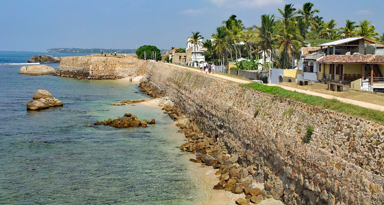Sri Lanka Galle defensive city wall