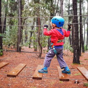Child on ropes course