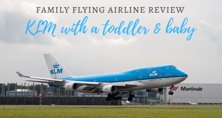 A KLM plane taking off - family flying review of KLM airline