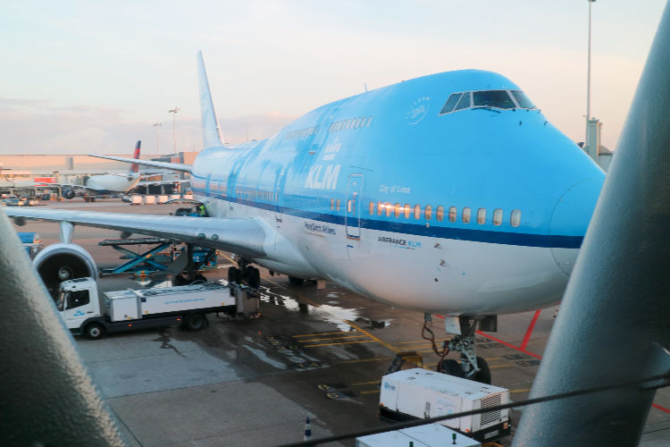 KLM  Boeing 747 at airport