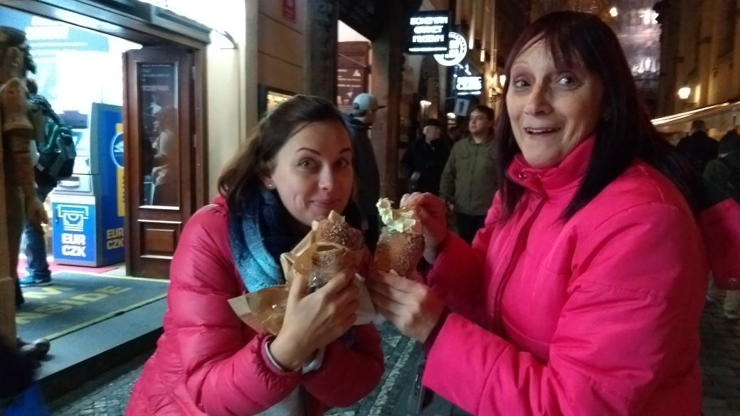 Prague City Centre - eating Trdelnik