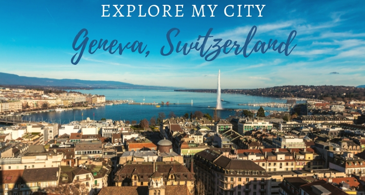 Explore My City Geneva viw over the city
