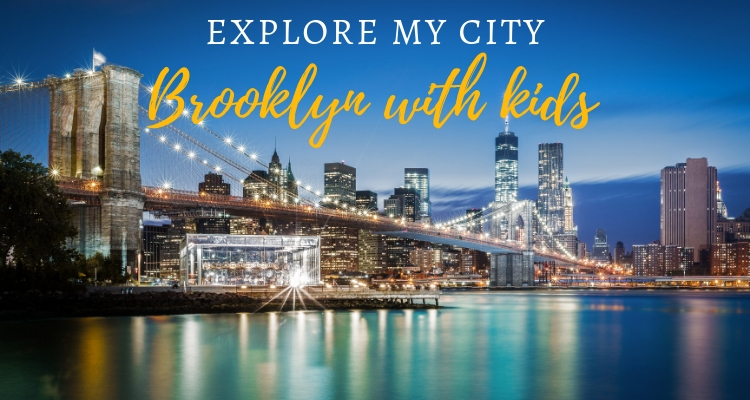 Explore My City - night time view from Brooklyn over the Brooklyn Bridge
