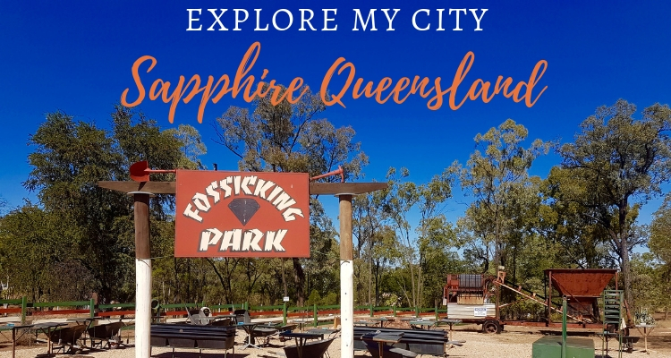 Sapphire in Queensland small mining town