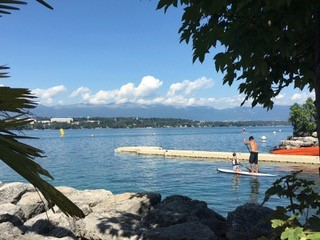 Family fun on Lake Geneva