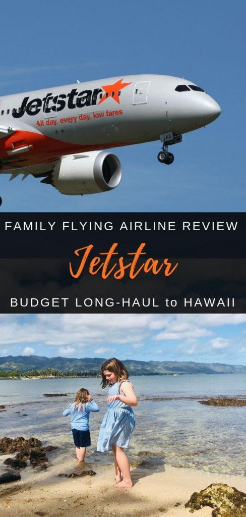Jetstar flying with kids to Hawaii