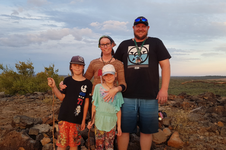 Emma and her family from My Rig Adventures