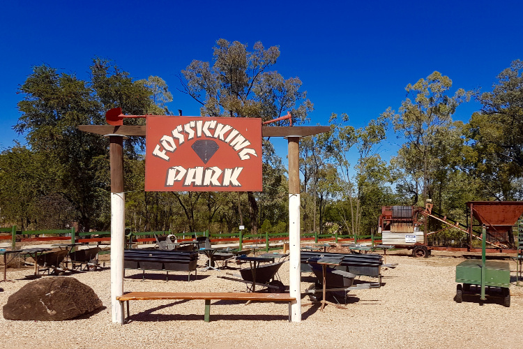 Fossicking Park in the Gemfields of Central Queensland
