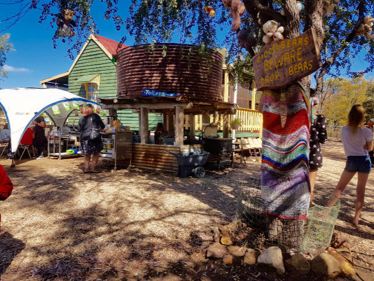 Country market in the Gemfields of Queensland