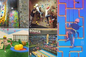 UAE Indoors - collage of indoor entertainment venues for kids in Abu Dhabi