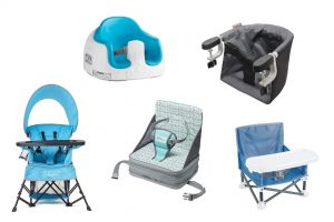Xcollage of baby high chairs that are portable to travel with