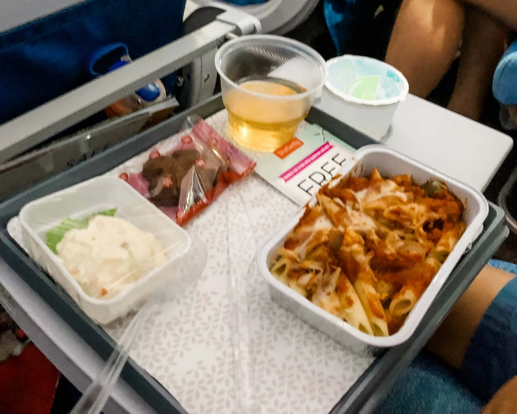 Meals on Hawaiian Airlines