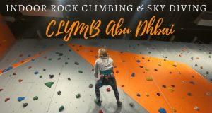 CLYMB Abu Dhabi child on climbing wall
