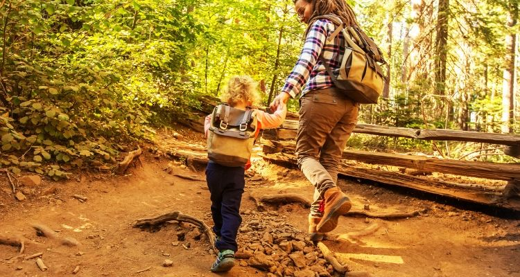 Toddler adventure activities child hiking