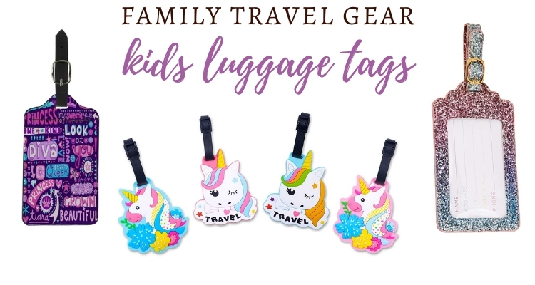 Adorable Kids Luggage Tags for your next family vacation