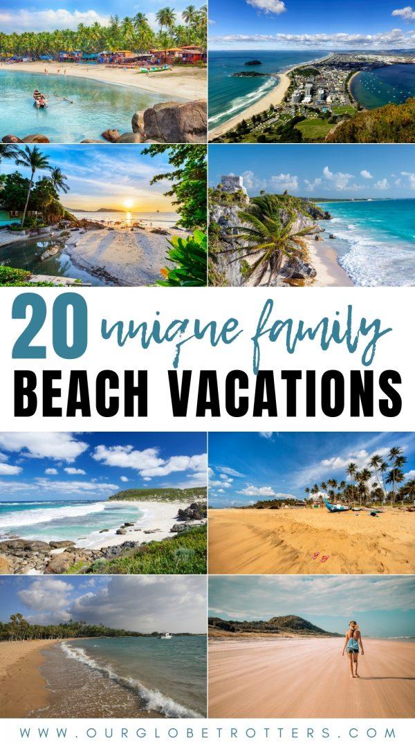 20 unique beach vacations around teh world collage of worldwide beaches