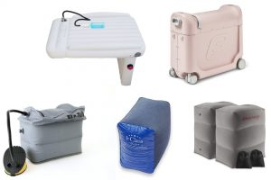 a selection of airplane sleep devices