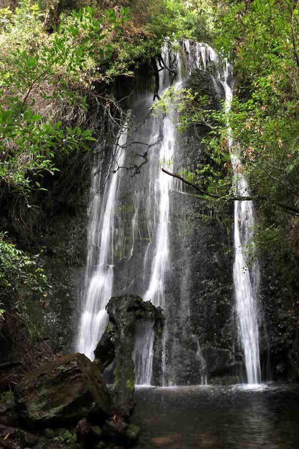 Waterfalls family camping holiday