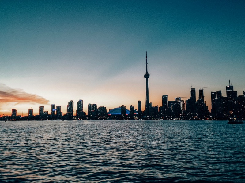 Sunsets in Harbourfront Toronto