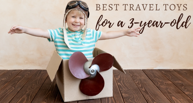 boy in a toy plane - Travel toys 3 year old