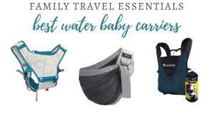 Different designs of waterproof baby carriers