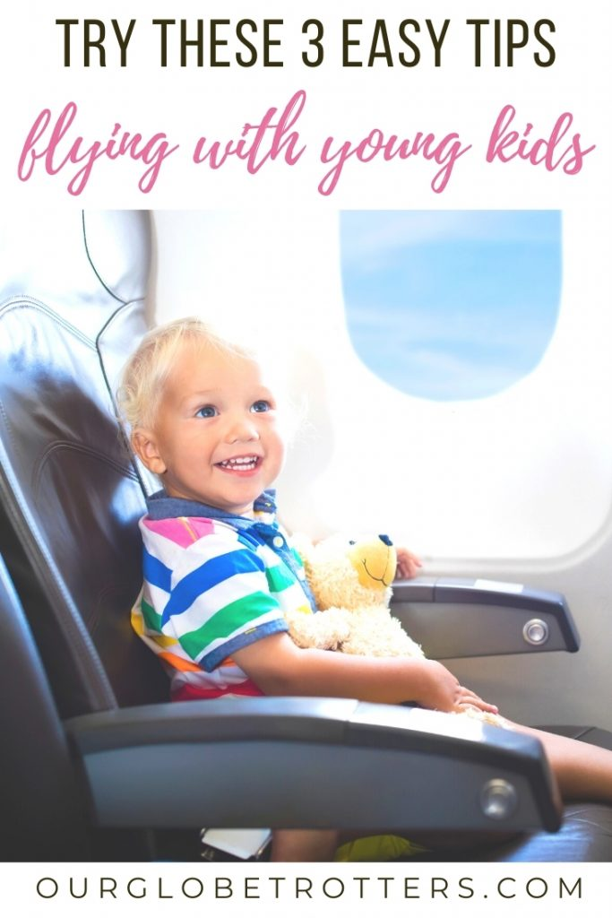 child on airplane - tips for flying with young kids